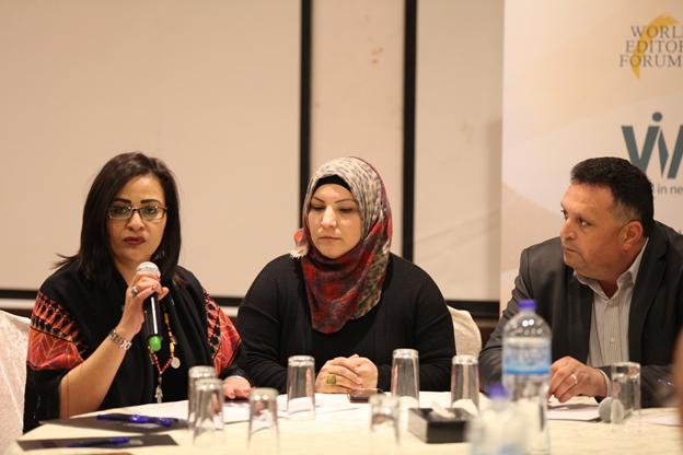 الاجتماع الوطني الأول في رام الله: مناقشة الوضع الحالي للإعلاميات الفلسطينيات