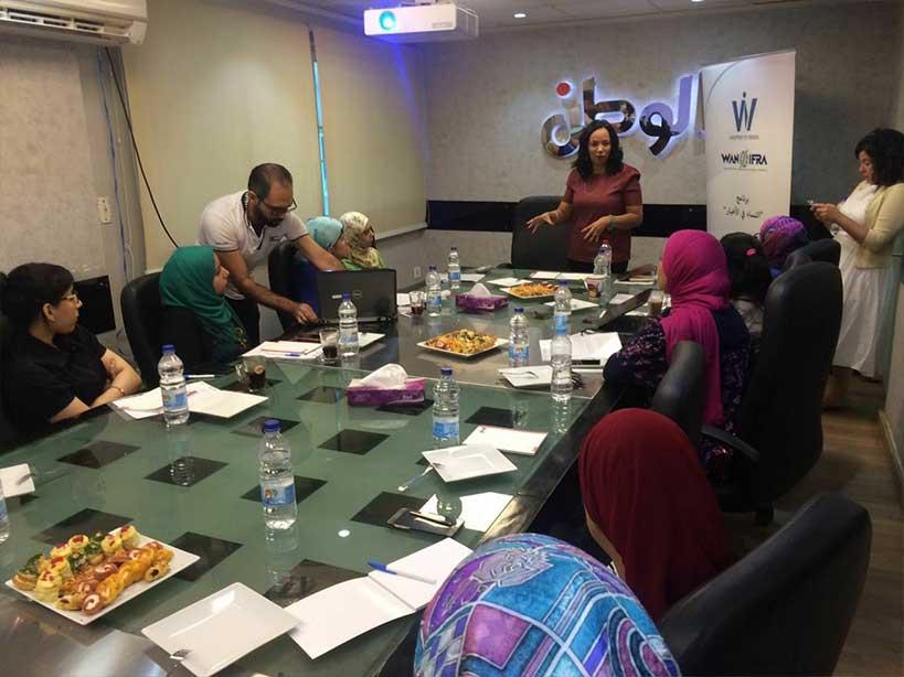 وان-ايفرا تنظم ورشة عمل لصحافيات جريدة الوطن المصرية