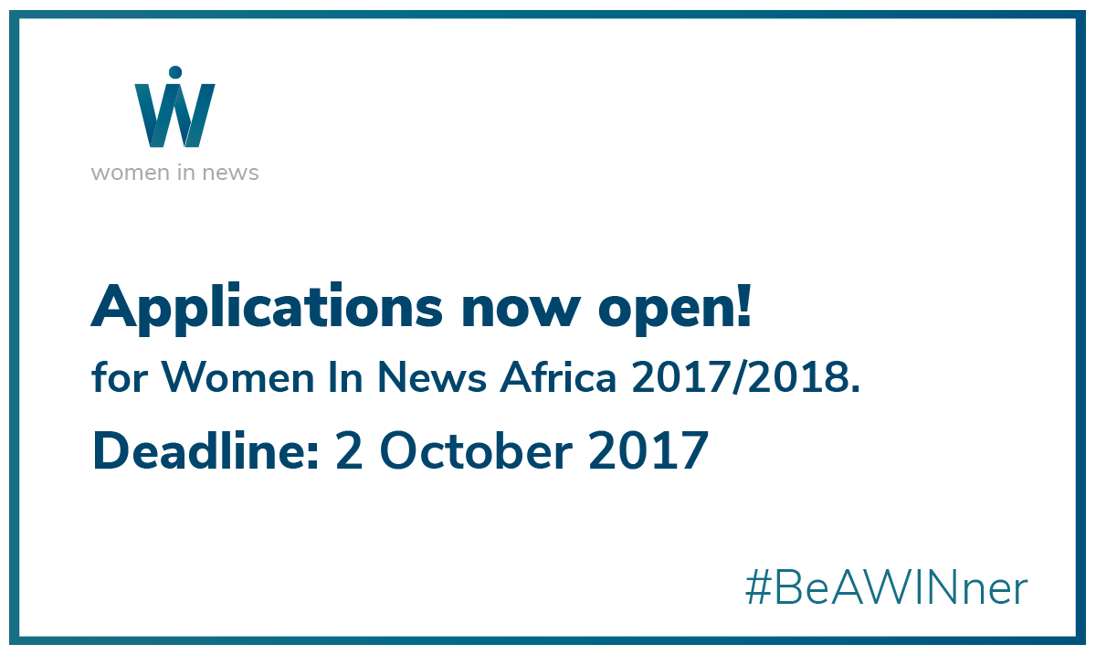 Call for applications: Women In News Africa