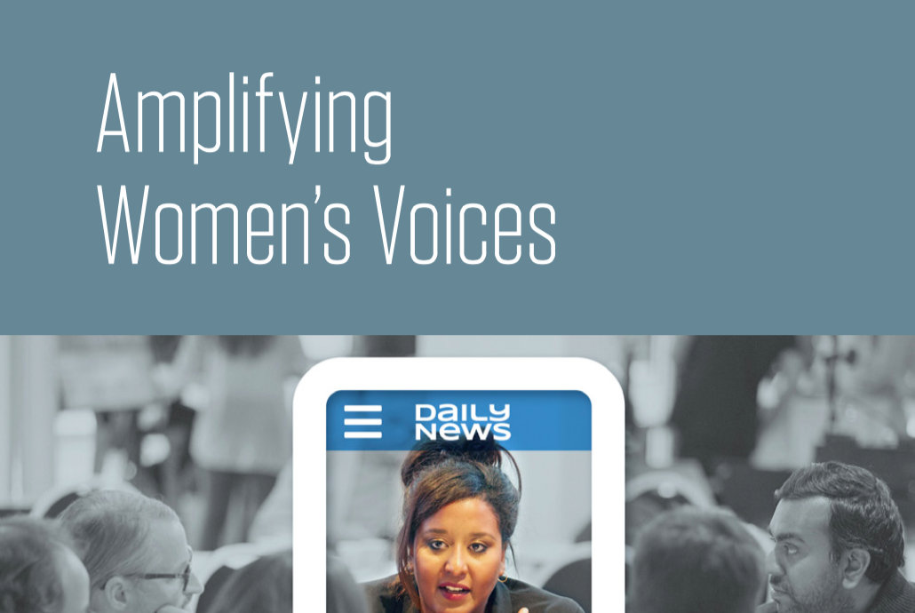 Trends in Newsrooms: Amplifying Women's Voices