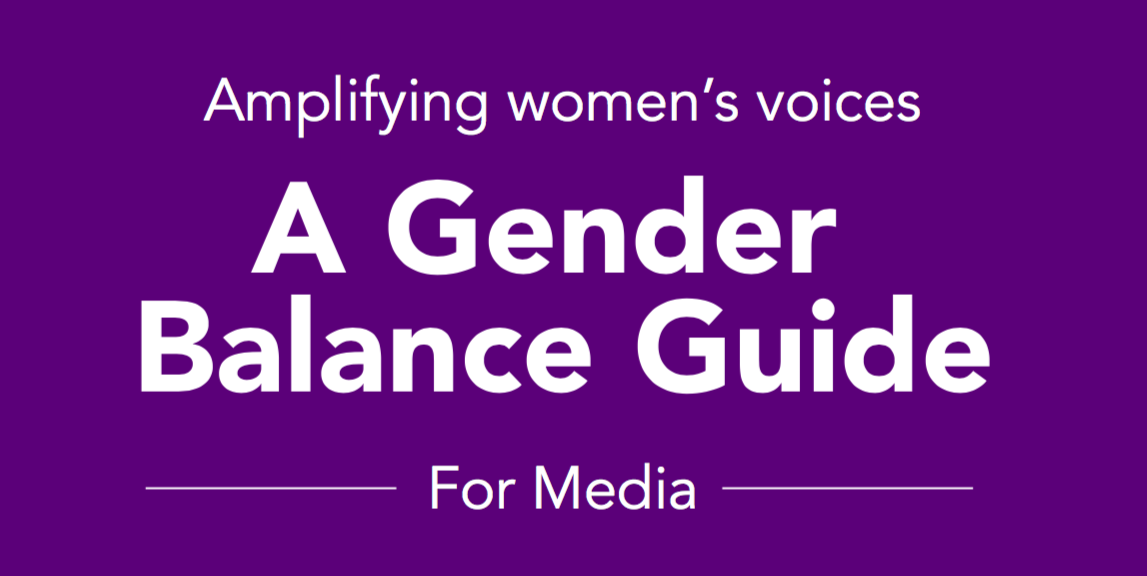 A Gender Balance Guide for media organisations